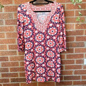 Boden Orange Printed Dress US 4